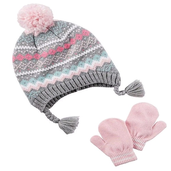 8b435fd7962 NWT Girl Carter s Winter Hat   Mitten Set